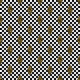 Seamless rhombs geometric black and white pattern.