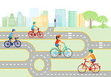 Children traffic education with bicycle