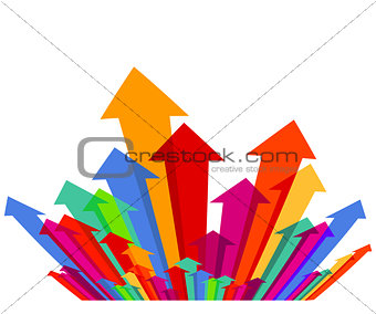 Abstract colorful arrows, illustration