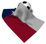 soccer ball and flag of texas - 3d rendering