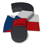 question mark and flag of Czech Republic  - 3d illustration