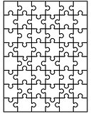 parts of white puzzle