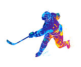 Hockey player illustration