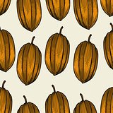 Vector seamless food pattern
