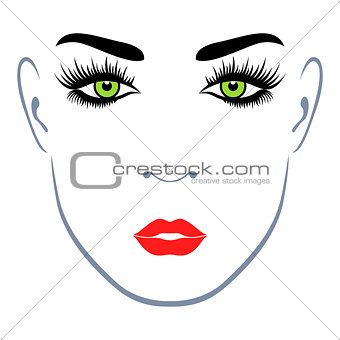 Abstract female face