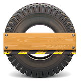 Vector Board with Truck Tire
