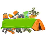 Vector Camping Banner