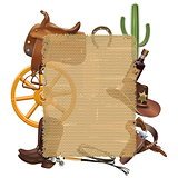 Vector Cowboy Sackcloth Frame