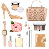Vector Fashion Accessories Set 2