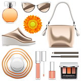 Vector Fashion Accessories Set 6