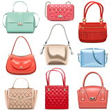 Vector Fashion Handbags
