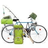 Vector Fishing Bicycle