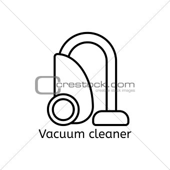 Vacuum cleaner simple line icon. Spring-cleaning thin linear signs. Clean simple concept for websites, infographic, mobile applications.