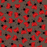 Ladybug seamless pattern art background
