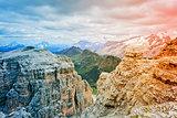 Dolomites of Passo Pordoi