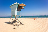 Lifeguard hut on Santa Barbara beach