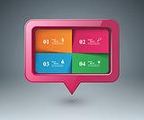 Speech bubl icon. Dialog box info.