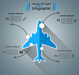Airplane infographic. Business icon