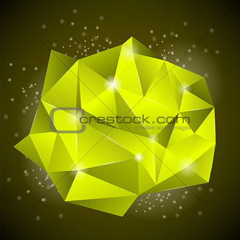 Abstract Polygonal Yellow Banner