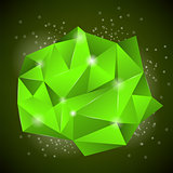 Green Polygonal Stone