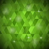 Green Geometric Retro Mosaic Pattern