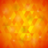 Orange Geometric Retro Mosaic Pattern