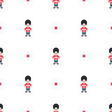 Queen guard cute seamless vector pattern.
