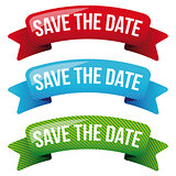 Save the Date vector ribbon