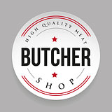 Butcher shop vintage stamp