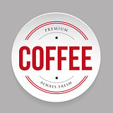 Coffee vintage stamp sticker