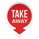 Take Away sign vector label arrow