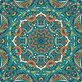 Tribal indian ethnic seamless design. Festive colorful mandala pattern