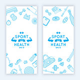 Sport and fitness banners.