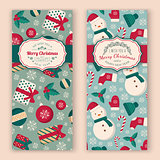 Winter objects pattern and greeting text.