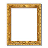 rectangular frame gold color with shadow