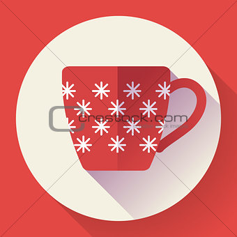 Cup icon with snowflakes