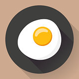 Vector illustration of omelette
