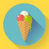 Vector Ice Cream icon. Flat designed style