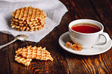 Cup of Tea with Waffles.