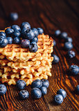 Waffles with Fresh Blueberry.