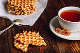 Waffle with Cup of Tea.
