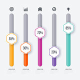 Vector illustration infographic five options