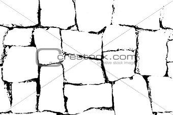 Antique brick wall texture. Grunge old stone packground. Vector pattern.