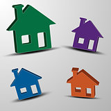 The vector set of 3d houses