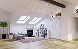 Attic floor design
