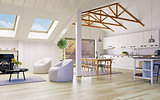 Attic floor design