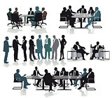 Business people consulting and meeting