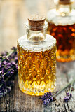 Lavender oil in bottles