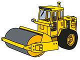 Yellow road roller