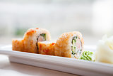 Flying fish roe maki